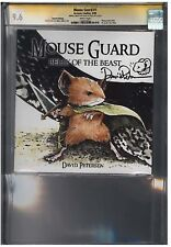 MOUSE GUARD #1 CGC 9.6 (4/06) Archaia Studios 2nd print Signature white pages