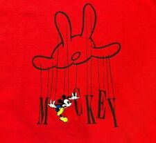 VTG 90s 🔥DISNEY Mickey & Co LARGE Embroidered T-Shirt Puppet Strings Marionette