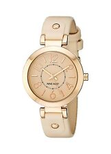 Nine West Womens Rose Gold-Tone Case Blush Pink Strap Watch