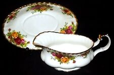 Royal Albert OLD COUNTRY ROSES Gravy / Sauce Boat and Stand