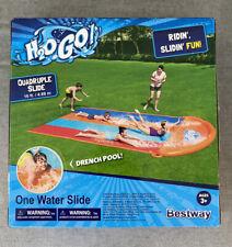 H2O Go Quadruple Slide Slip N Slide Outdoor Inflatable Play Bounce Summer