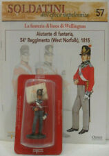 """Soldatini Napoleonici in piombo """"AIUTANTE di FANTERIA, 54° reggimento 1815"""" c/fa"""
