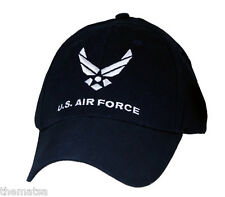 AIR FORCE DARK NAVY WHITE LOGO MILITARY HAT CAP