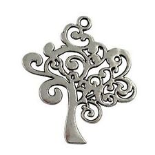 10Pcs Tibetan Silver TREE OF LIFE Charms T15998
