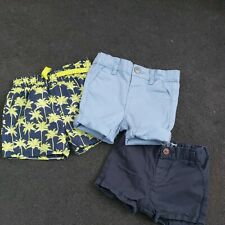 3 Pairs Of Shorts Boys 9-12mnths
