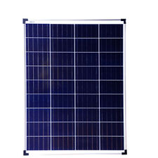 100W PV Solar Panel c/w 2m cable for charging 12v 24v battery systems Caravan UK