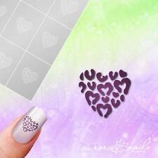 Airbrush + Nagellack klebe Schablonen M612 NAILART Herz Heart Blumen Floral 20x