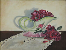 Hull pottery with knock out roses still life 8 x 10 print of original painting
