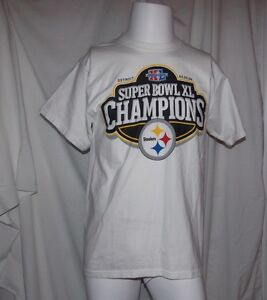 NFL SUPER BOWL 40 Steelers & Seahawks 2006 CHAMPIONS COTTON S/S TEE Unisex Large