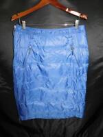 Weatherproof 32* Heat L Blue Winter Down Filled Skirt Jacket Knee Coat Straight