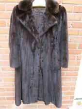BlackGlama Dark Brown Mink Peacoat Fur Coat M Medium