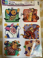 Vintage Disney Winnie the Pooh Halloween Static Cling Window Decorations