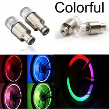 8X LED Wheel Tire Tyre Valve Caps Colorful Neon Light for Car Motorcycle Bike