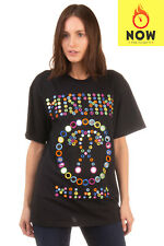RRP €435 MOSCHINO COUTURE T-Shirt Top Size XXS Mirrors Embellished Made in Italy