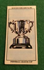 THE SUN SOCCER CARDS 1978-79 #993 FOOTBALL LEAGUE CUP