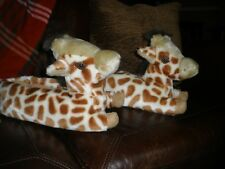 Giraffe Animals Slippers NOVELTY/ MED (Fits Size 7-8 WOMENS)
