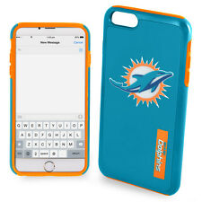 """NFL Hybrid DUAL Cover Case for Apple iPhone 6 4.7"""" - Miami Dolphins + Screen"""
