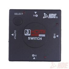3 Port HDMI  Switcher Splitter Switch 1080p for HDTV, PS4, and XBox One