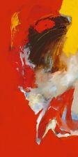MAGIS : Triptyque rouge I abstrait tableau prêt 50x100 Tableau mural