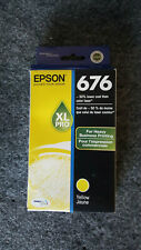 Genuine Epson 676XL PRO Yellow Business Ink Cartridge NEW SEALED