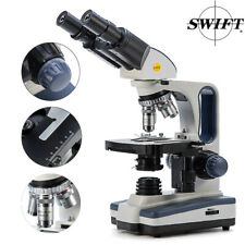 SWIFT 40X-2500X Lab Compound Microscope Binocular Mechanical Stage LED WF25X US