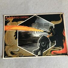 T) Postcard Large Format Military Regiment chemical Flamethrower Angle Rott