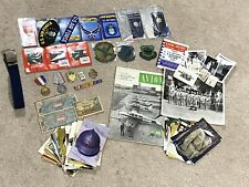 Vintage Junk Drawer Lot Miscellaneous Items Military, Air Force, Etc.