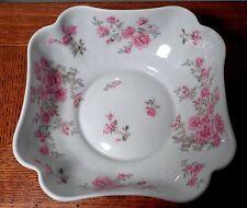 Bernardaud Limoges France Porcelain Square Bowl Hand Painted Flowers