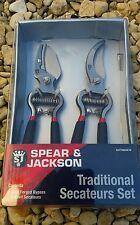 Spear & Jackson Secateurs Vintage Bypass & Anvil Set. - Cuttingset8