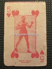 C1920 Rare HARRY (black panther) WILLS Boxing Arcade Strip Playing Card