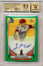 SEAN NEWCOMB 2014 BOWMAN CHROME GREEN REFRACTOR AUTOGRAPH #/99 BGS 9.5 10 ROOKIE
