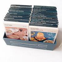 Vintage MARGUERITE PATTEN'S Retro Box Recipe Cards Kitchen 1960s Near Complete