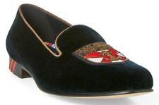 New Ralph Lauren Purple Label Men's Italian Loafers Velvet Alonzo Slippers Navy