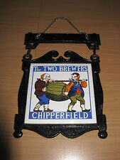 Vintage Hanging Cast Metal & Tile Sign The Two Brewers Beer Chipperfield Shingle