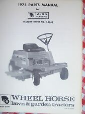 Wheel Horse  Parts Manual  A-65 Electric