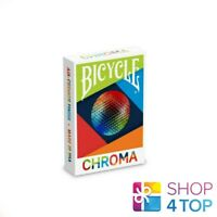 BICYCLE CHROMA DECK POKER SPIELEN KARTEN ZAUBER TRICKS USPCC NEU