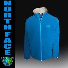 THE NORTH FACE MEN'S SIZE 2XL BLUE RANGE WINDWALL JACKET RTO DANISH BLUE/GREY