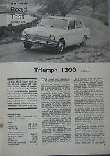 1966 Triumph 1300 Original Autocar magazine Road test