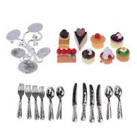Dollhouse Miniature Kitchen Accs Delicate Tableware & Dessert Cakes Stand