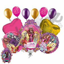 11pc Ever After High Happy Birthday Balloon Bouquet Party Decoration Apple White
