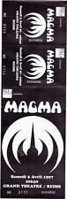 ticket billet UNUSED place concert MAGMA 1997 Reims