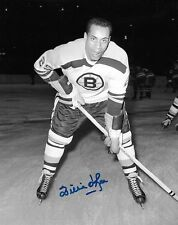 signed willie o'ree 8x10 photo boston bruins hhof with coa