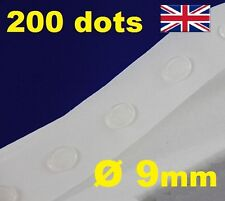 200 Glue Dots Sticky Craft Clear Card Making Scrap Removable 9mm EASY LOW TACK