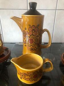 Vintage Royal Worcester Palissy Coffee Pot and Milk Jug