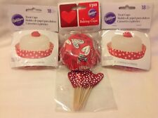 Valentines Treat Cups, Baking Cups, Treat Picks