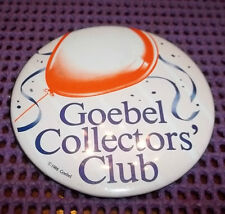 "Vintage Goebel Collector's Club Button/Pin 3"" Across"