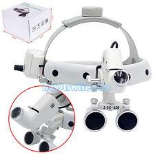 Dental Optical Surgical Medical Head Band 3.5X Binocular Loupe & LED Light 5W CE
