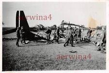 Abgeschossenes franz. Flugzeug Farman F.221 bei Nancy Frankreich