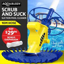 Aquabuddy Swimming Pool Cleaner Floor Climb Wall Automatic Vacuum 10M Hose