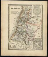 Palestine Holy Land Jerusalem 1860 Meyer map